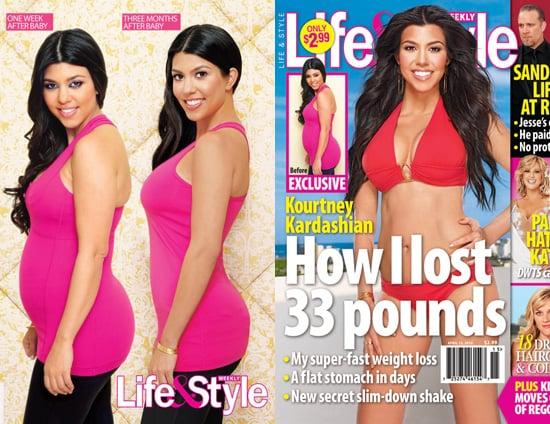 Kourtney Kardashian Covers Life & Style Magazine About Losing the Baby Weight