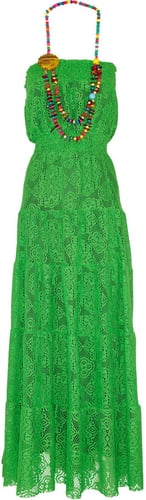 T-Bags Crochet-knit maxi dress