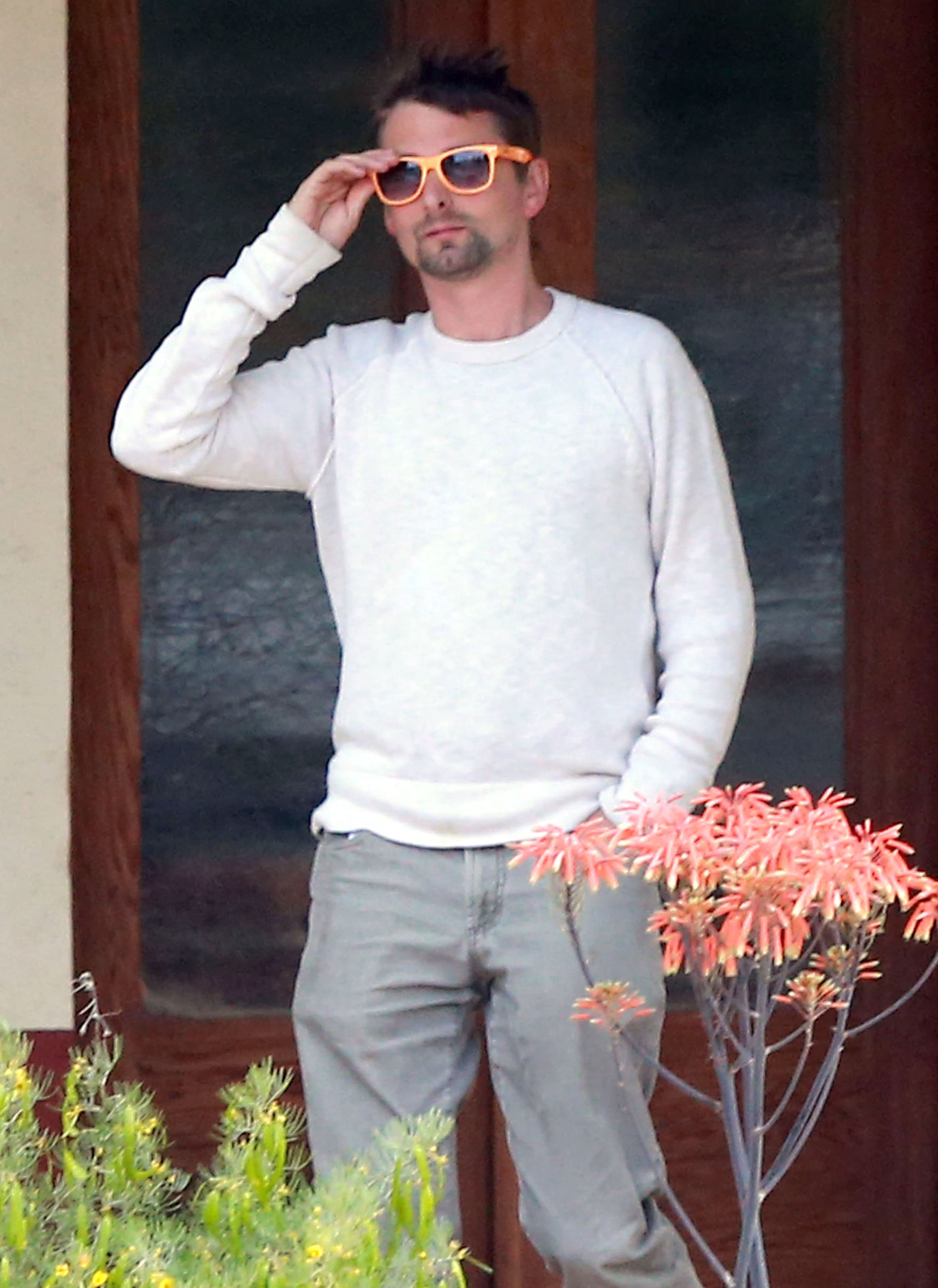 Matthew Bellamy was spotted in Santa Barbara, CA.