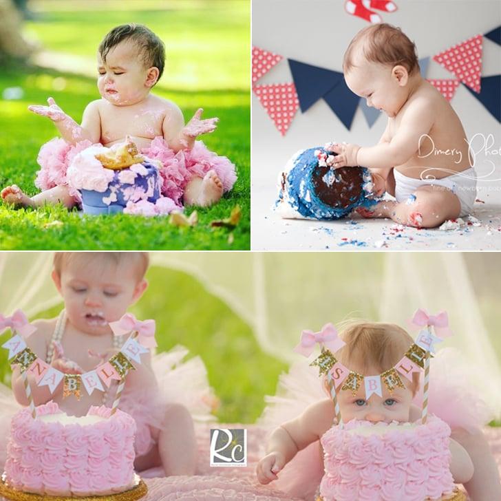 Baby Cake-Smash Photo Ideas POPSUGAR Moms