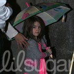 Celebaby Style: Suri Cruise Steps Out in Silver and Suede