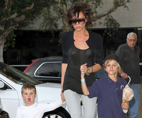 Slide Photo of Victoria Beckham Out For Ice Cream With Kids