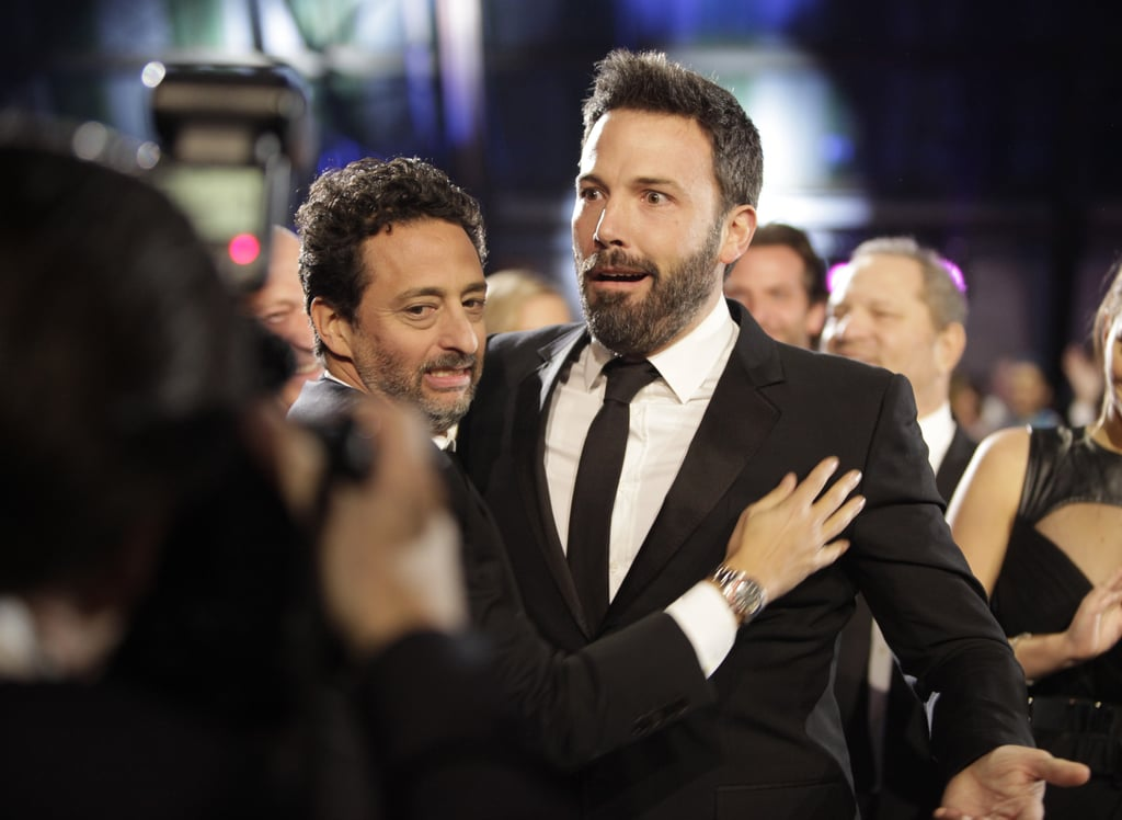 Ben Affleck showed his surprise with Grant Heslov at the Critics' Choice Awards.