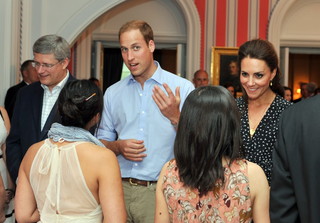 Prince William and Kate Middleton greeted youth in Canada.