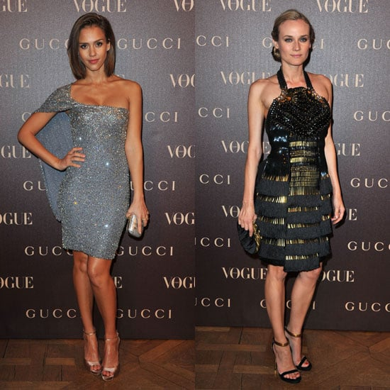 Pictures of Diane Kruger and Jessica Alba at Gucci Dinner During Paris Fashion Week