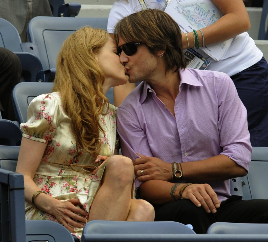 While in NYC, Keith and Nicole shared a kiss in September 2009 while watching the US Open.