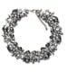 Zara gray rhinestone and silver flower necklace ($50)