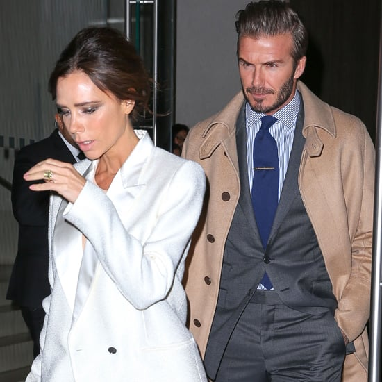 Victoria Beckham Wearing a White Suit