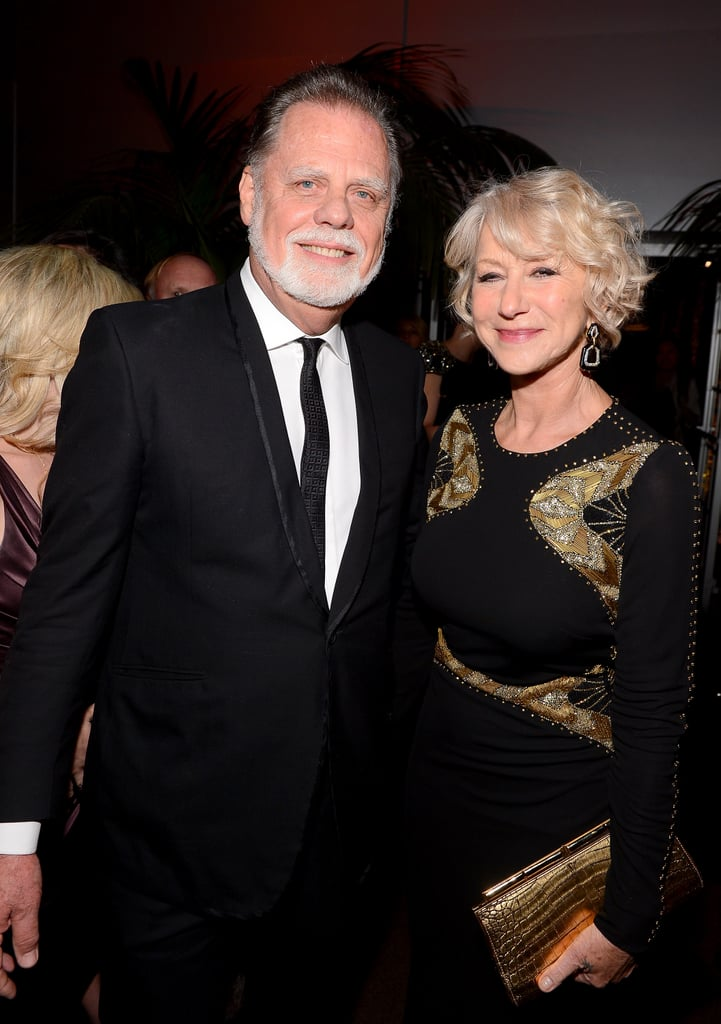 Helen Mirren and Taylor Hackford attended the Fox Network Golden Globes party.