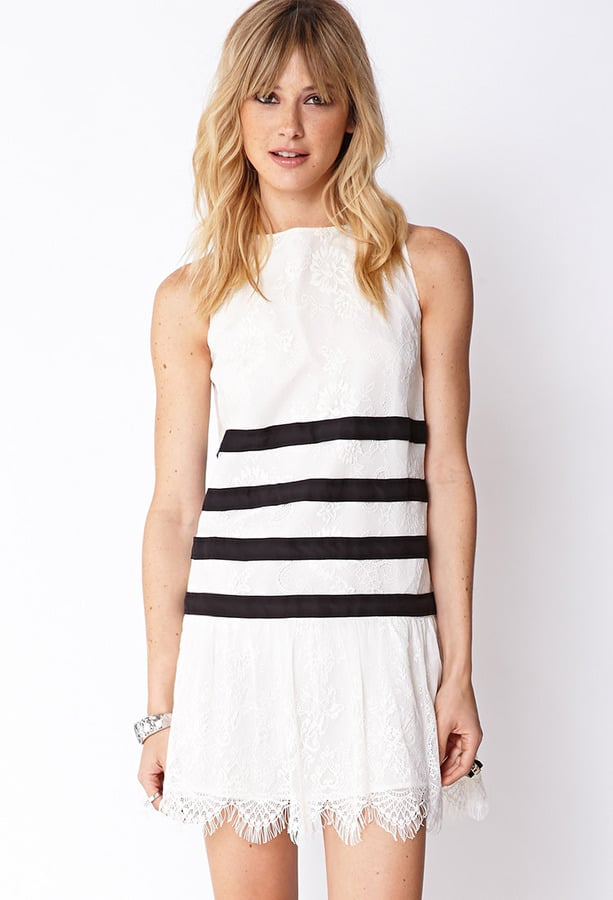 Forever 21 Striped Lace Dress