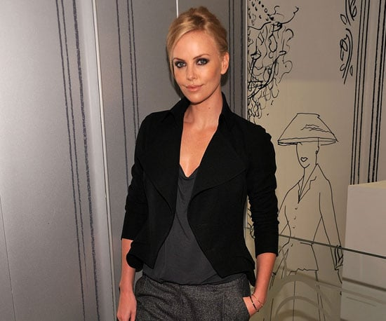 Slide Picture of Charlize Theron at a Fashion's Night Out Event in NYC