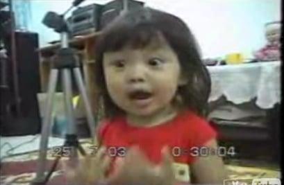 Little Girl Sings Karaoke