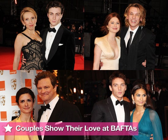 Photos of All the Couples on the BAFTAs 2010 Red Carpet Sam Taylor-Wood, Aaron Johnson, Bonnie Wright, Jamie Campbell Bower