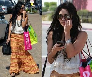 Vanessa Hudgens Wearing Orange Boho Black Label Skirt 2010-06-28 10:08:22