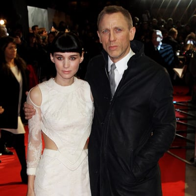 Rooney Mara in Givenchy Pictures With Daniel Craig at The Girl With the Dragon Tattoo London Premiere