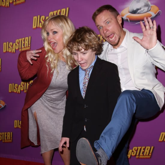 Brian Littrell AJ McLean at Disaster Broadway Opening Night