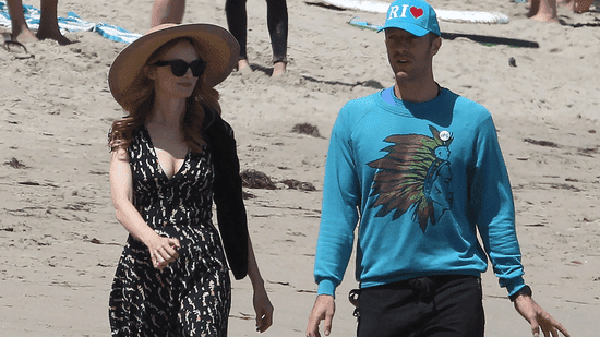 Chris Martin and Heather Graham Take a Lovely Stroll on the Beach Together -- See the Pic!