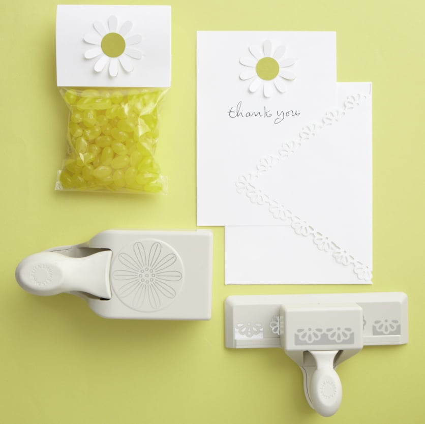 From sweet party favors to thank you notes, theses craft punches can add a daisy theme to more aspects of the party.  Source: Photos by Bryan Gardner. Courtesy of Martha Stewart