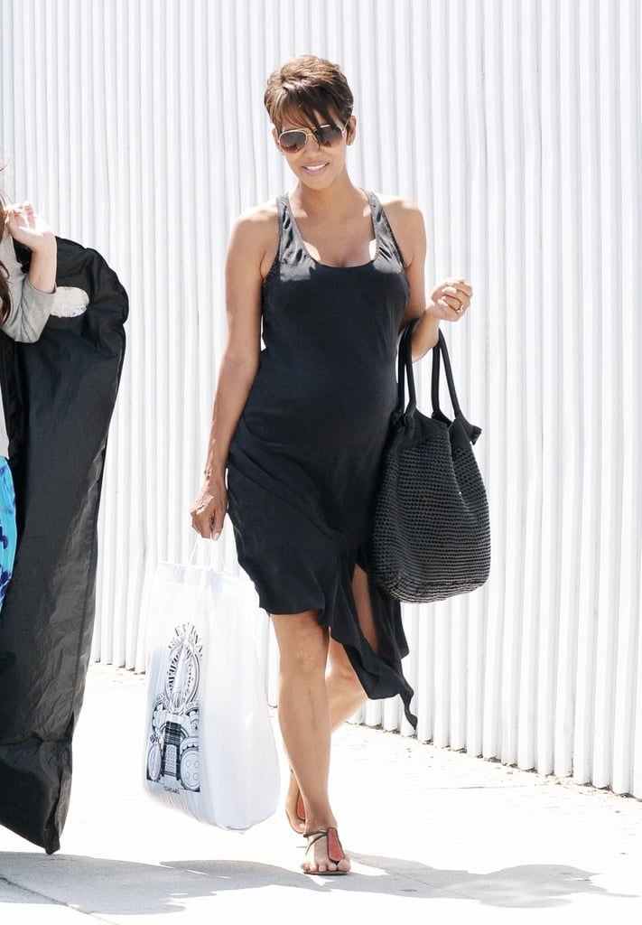 Halle stuck to black once again in Hollywood. Do the same in your city by dressing yourself in all black.
