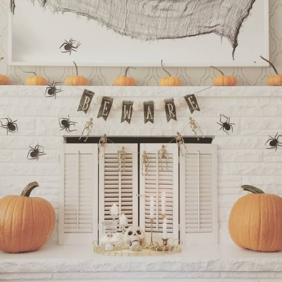 Elegant Halloween Mantel Decor