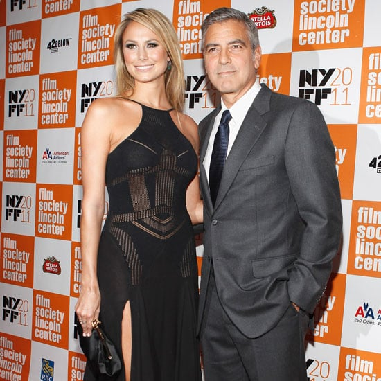 George Clooney Pictures With Stacy Keibler on First Red Carpet