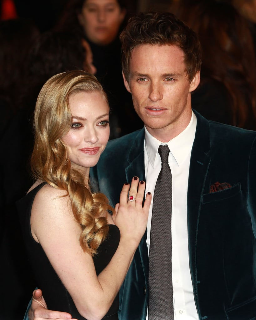 Eddie had his Les Misérables co-star Amanda Seyfried close by at the film's world premiere in December.