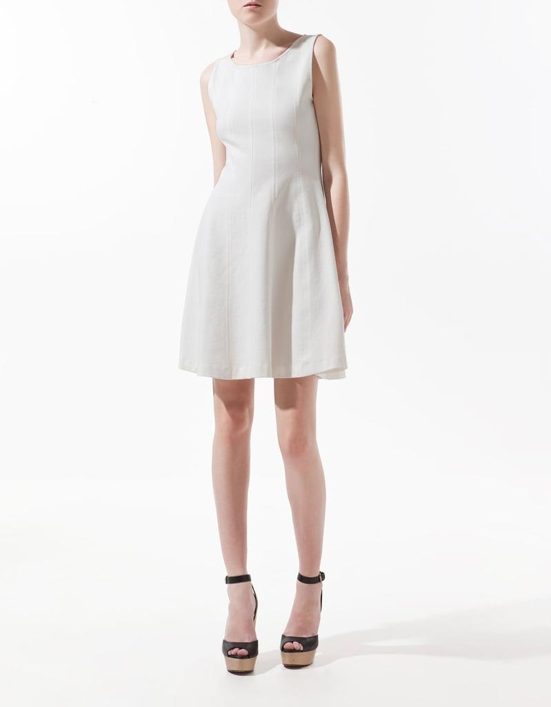 Zara Seamed Dress With Flared Skirt ($60)