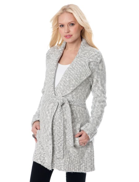 Michael Stars Belted Maternity Sweater