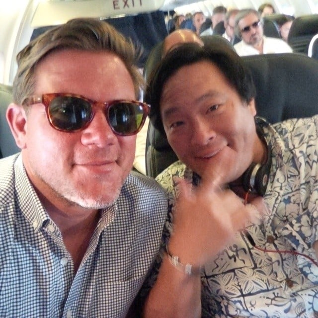 Tyler Florence and Ming Tsai Relaxed in First Class