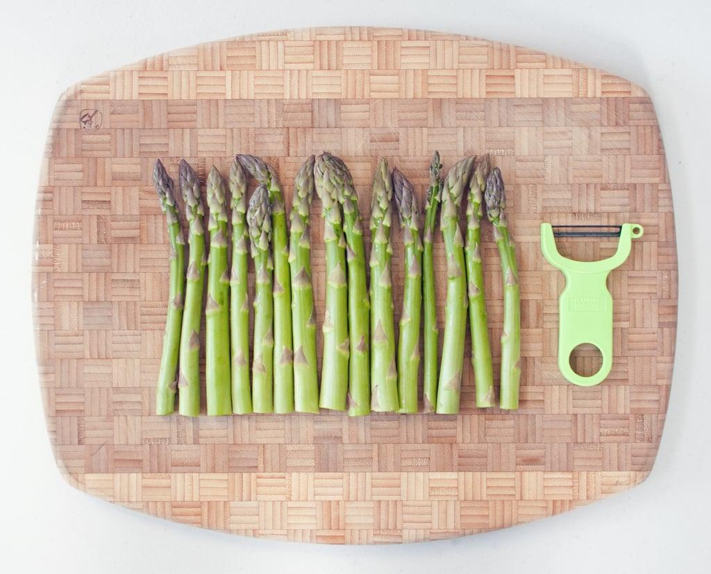 Shaving Asparagus Into Ribbons