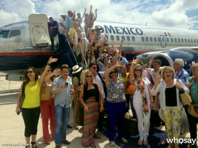 Sofia Vergara's family made the trip to Mexico for her 40th birthday.  Source: Sofia Vergara on WhoSay