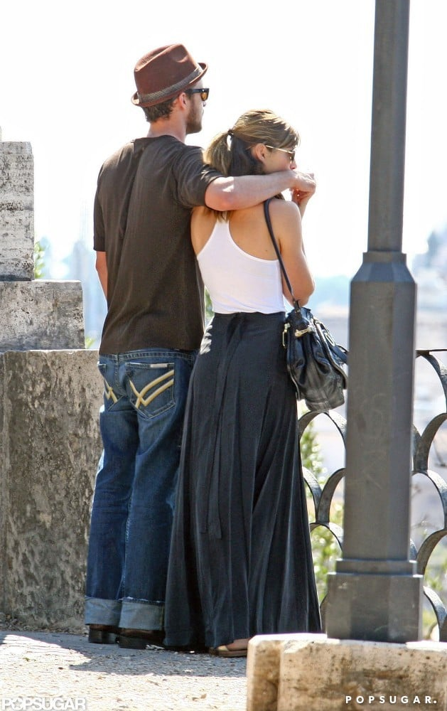Justin and Jessica admired the view while touring Rome in September 2008.
