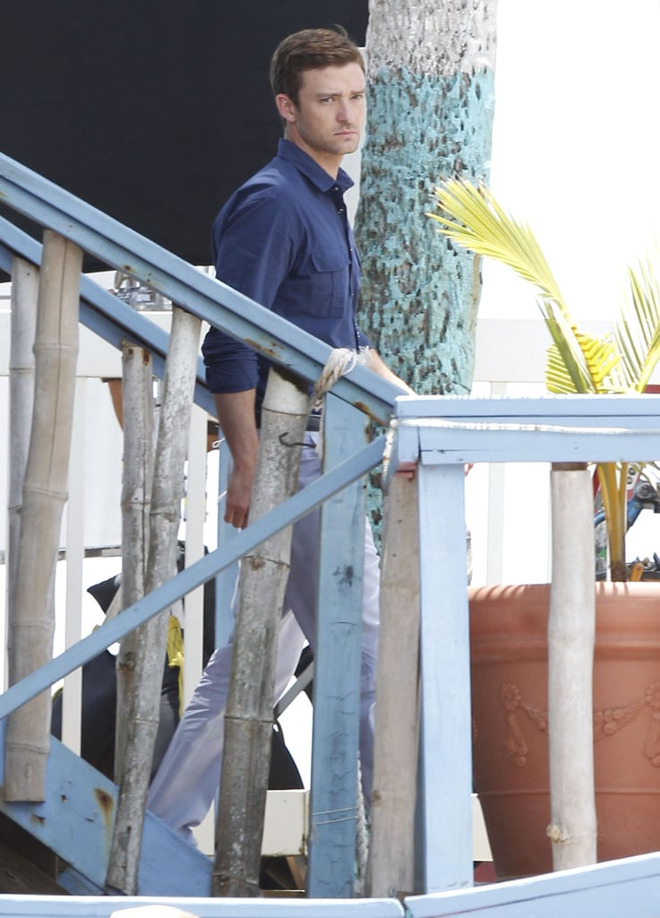 Justin Timberlake was spotted on the set of Runner, Runner in Puerto Rico.