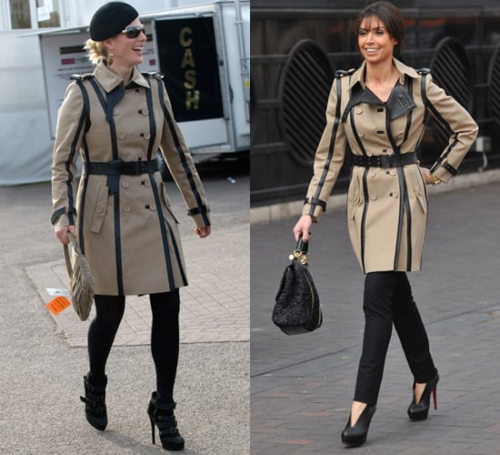 Christine Bleakley and Zara Philips Wear the Same Burberry Leather Trench