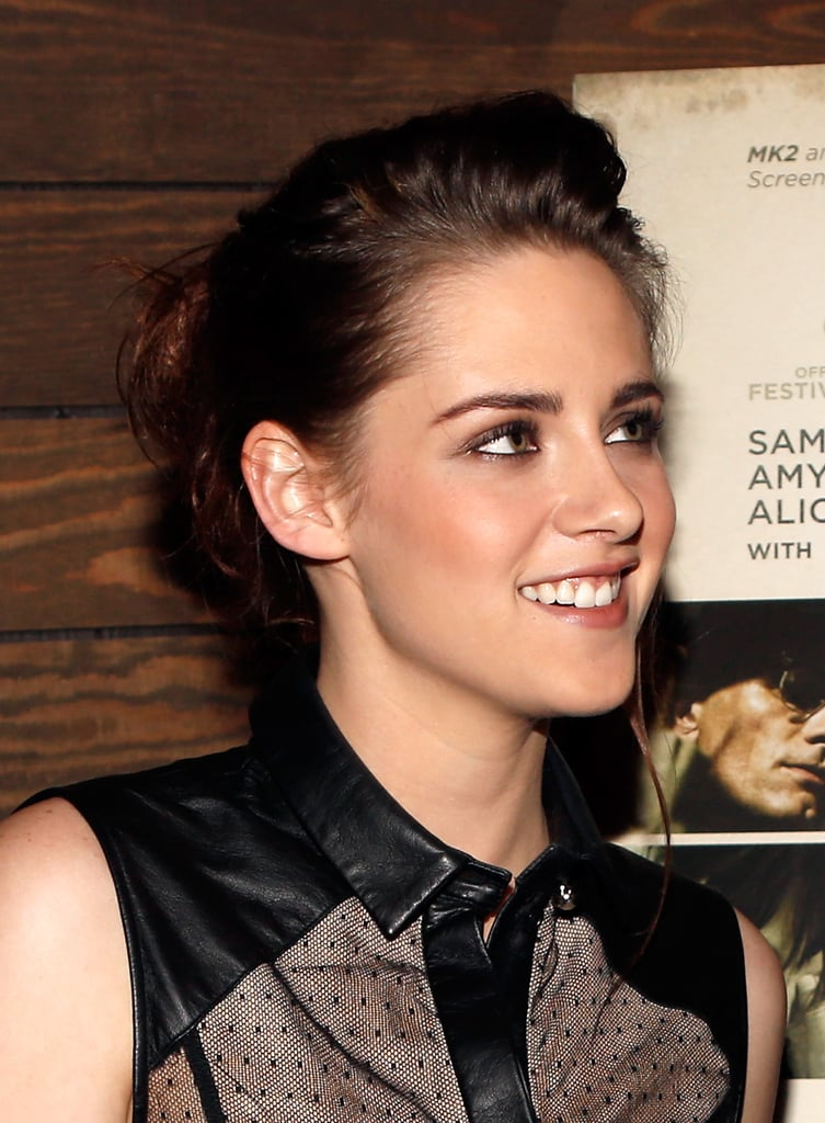 Kristen Stewart Goes Sheer to Screen On the Road With Garrett Hedlund