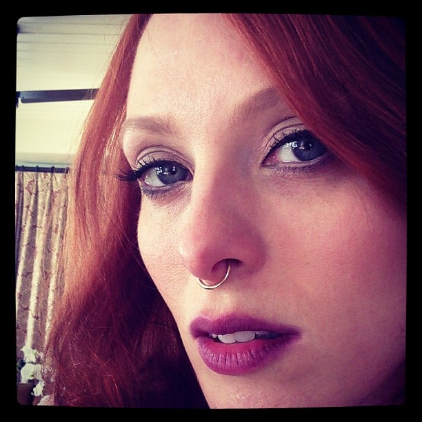 Karen Elson wasn't messing around when it came to her Met Gala beauty look. Source: Instagram user misskarennelson