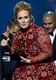 Adele gave a thank-you speech at the Grammys.