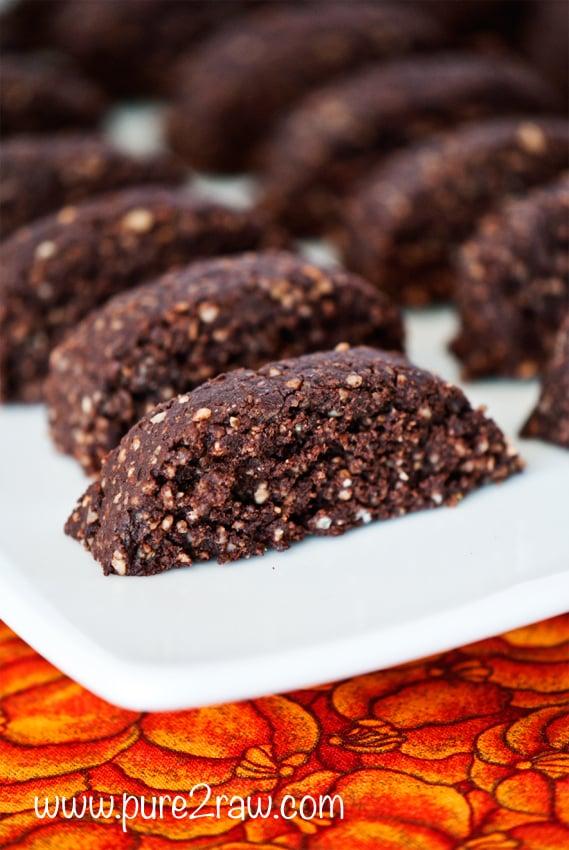 Raw Mini Chocolate Hazelnut Biscotti