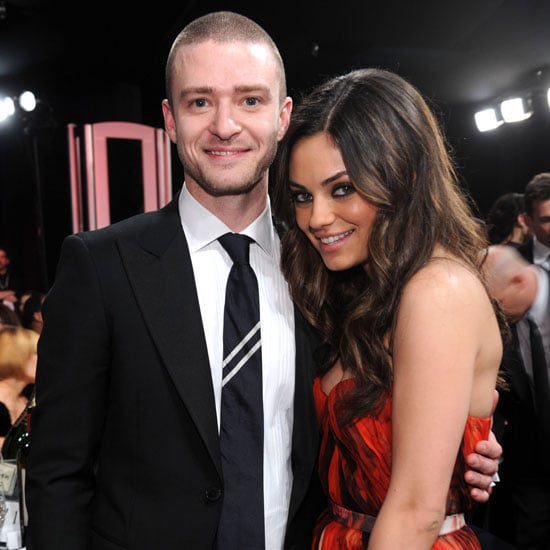 Justin Timberlake ran into his Friends With Benefits costar, Mila Kunis, at the 2011 SAG Awards in LA.