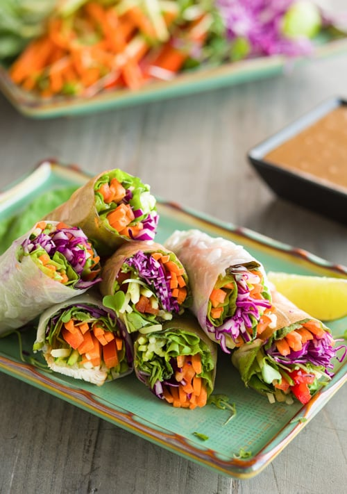 Rainbow Vegetable Spring Rolls