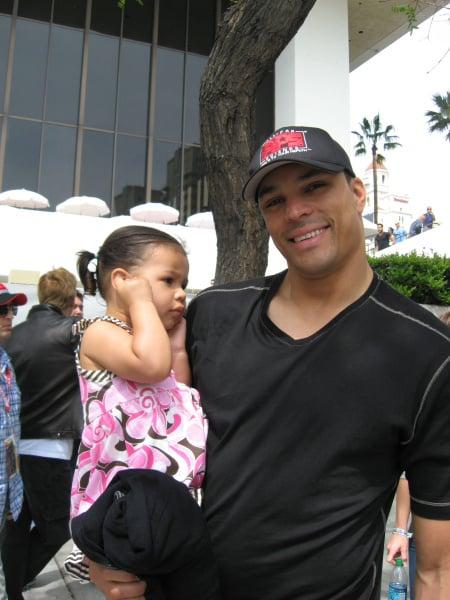 Tony Gonzalez and Malia