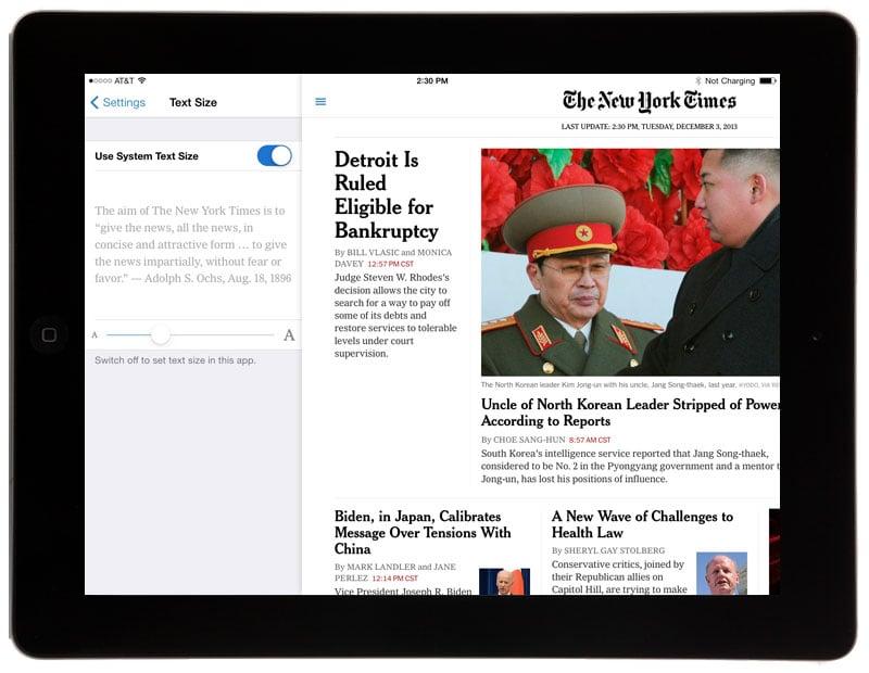 NY Times app