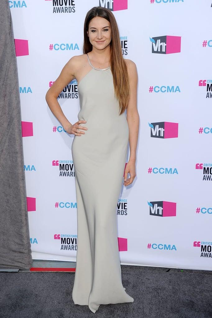 Shailene Woodley attended the 2012 Critics' Choice Movie Awards.