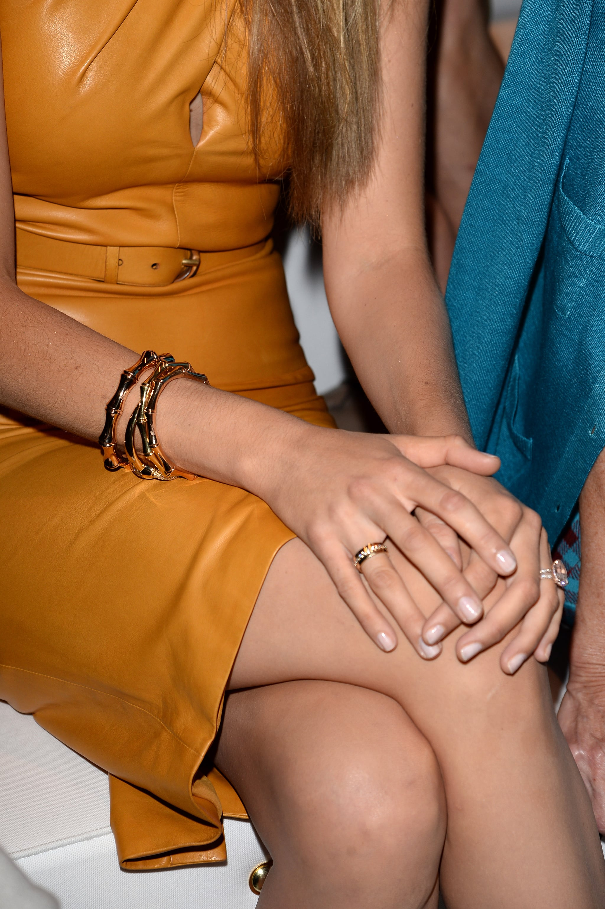 Blake Lively's manicure (and ring!) at Gucci Spring 2014.