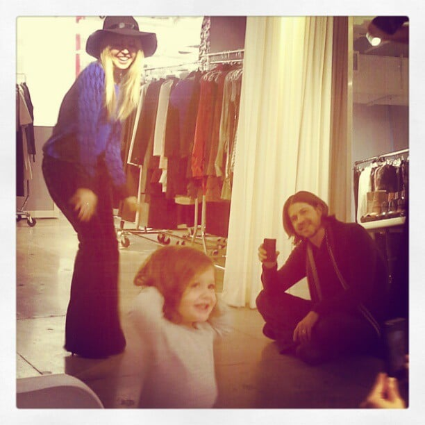 Rachel Zoe shared an adorable picture of Skyler Berman showing off his runway skills. Source: Instagram user rachelzoe