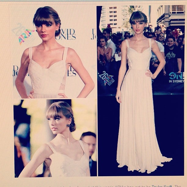 FabSugar was thrilled to see Taylor Swift doing what she does best in this pretty Elie Saab confection.