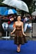 Amy Adams joked about being rained on during the Man of Steel premiere in London on Wednesday.
