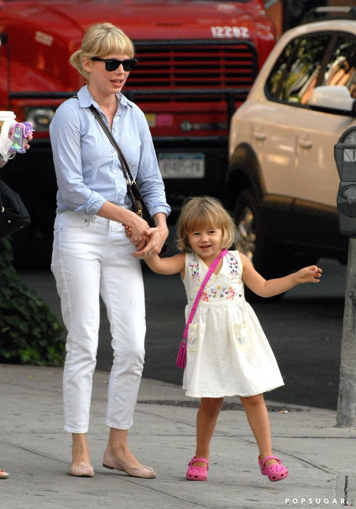 Michelle Williams shared a sweet NYC moment with her daughter Matilda during the Summer of 2008.