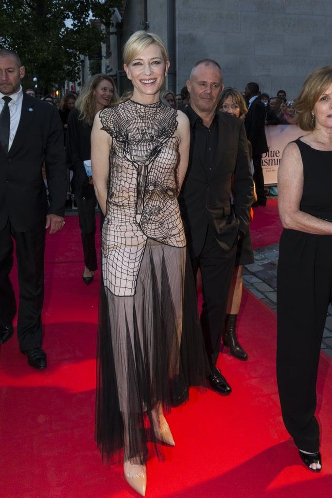 Cate Blanchett in Christopher Kane at the 2013 Blue Jasmine Paris Premiere