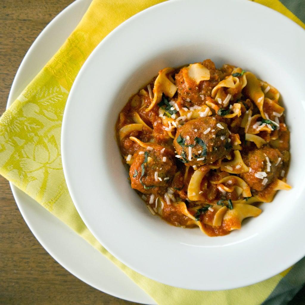 Parmesan Meatballs and Noodles
